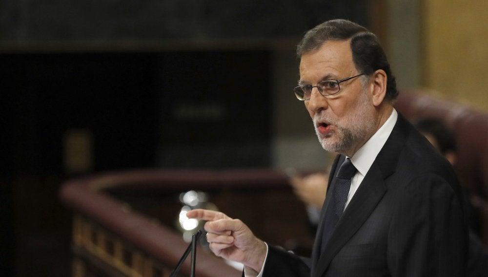 Mariano Rajoy durante la sesión de investidura