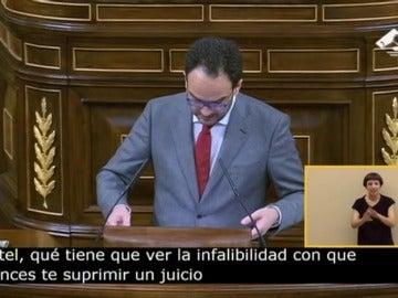 Frame 0.0 de: Antonio Hernando acusó a Rajoy de no mencionar a la Unión Europea en su discurso de investidura del miércoles