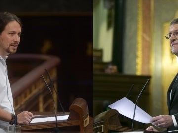 Pablo Iglesias y Mariano Rajoy