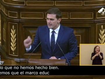 """Frame 0.0 de: Albert Rivera: """"España el campeón de Europa en fracaso escolar"""""""