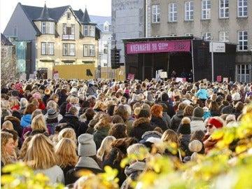 Manifestación en Islandia