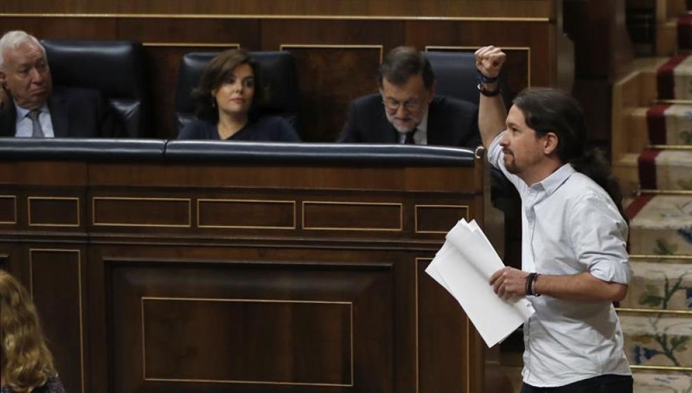 Pablo Iglesias, en la investidura de Rajoy
