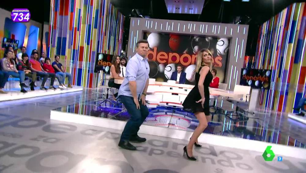 Miki Nadal y Anna Simon hacen 'twerking' en Zapeando
