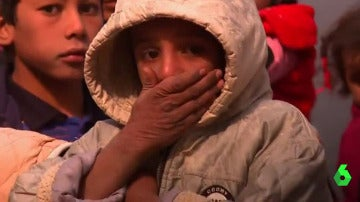 Un niño víctima de las atrocidades de Daesh en Mosul