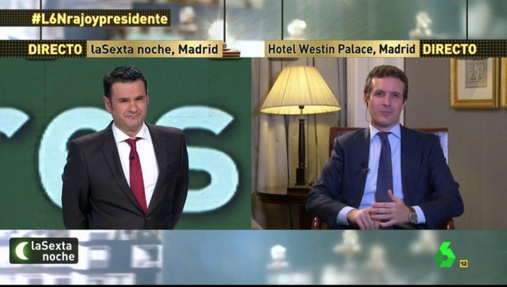 """Frame 19.028927 de: Pablo Casado: """"Pablo Iglesias ha perdido el respeto a las instituciones en las que está"""""""