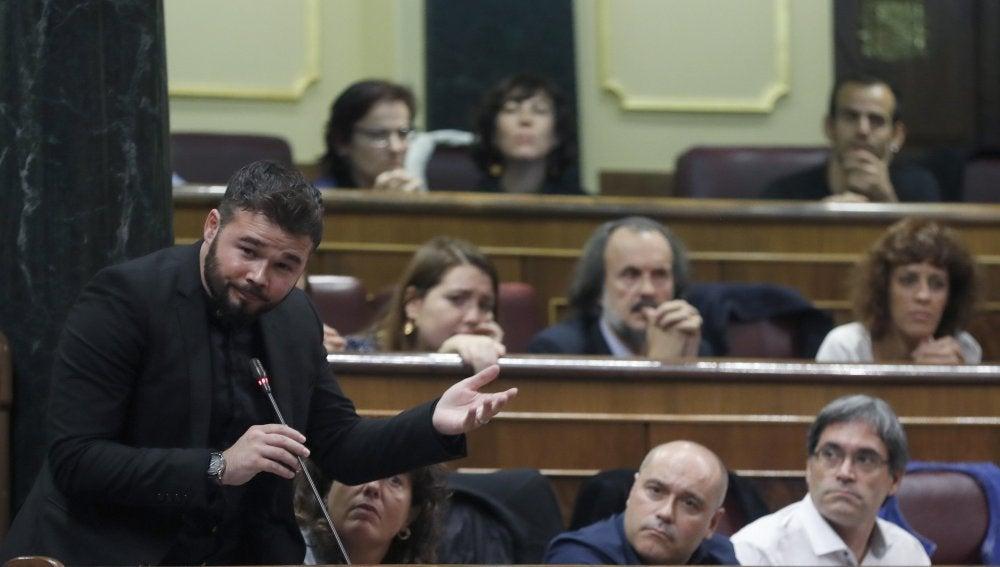 El portavoz adjunto de ERC en el Congreso, Gabriel Rufián