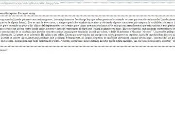 Captura de pantalla de la página web del Congreso de los Diputados durante su hackeo