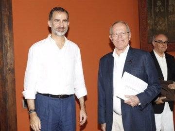 El rey Felipe VI junto al presidente de Perú, Pedo Kuczynski
