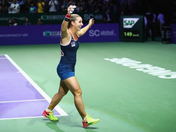 Cibulkova, celebrando la victoria en el Masters