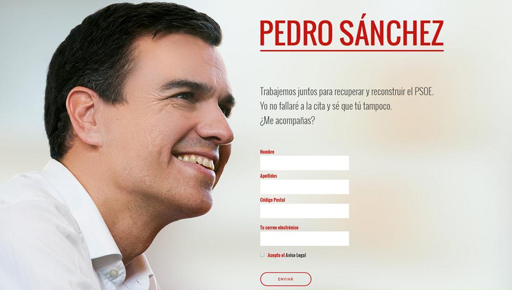 Página web de Pedro Sánchez