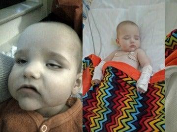 El pequeño Logan ingresado en el hospital