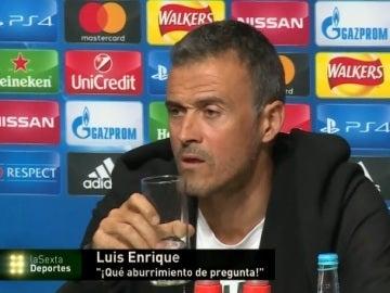 Luis Enrique, irónico en rueda de prensa