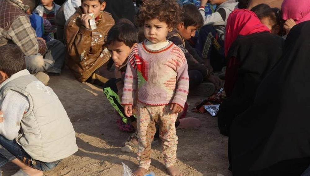 Niños soldado reclutados en Mosul