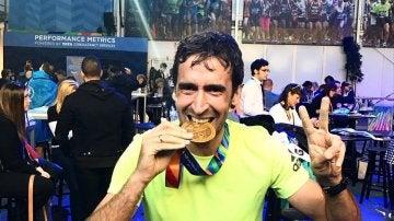 Raúl, tras la maratón de Nueva York