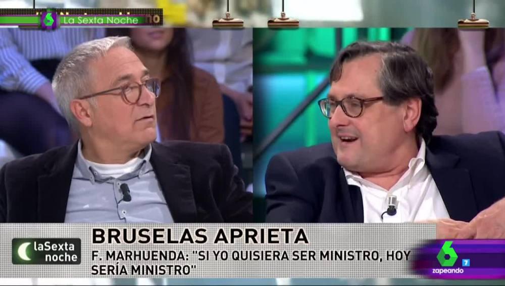 Paco Marhuenda y Xavier Sardà, en laSexta Noche