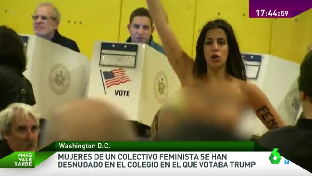 Frame 21.704742 de: Donald Trump, recibido entre abucheos a las puertas del colegio público de Manhattan donde ha votado