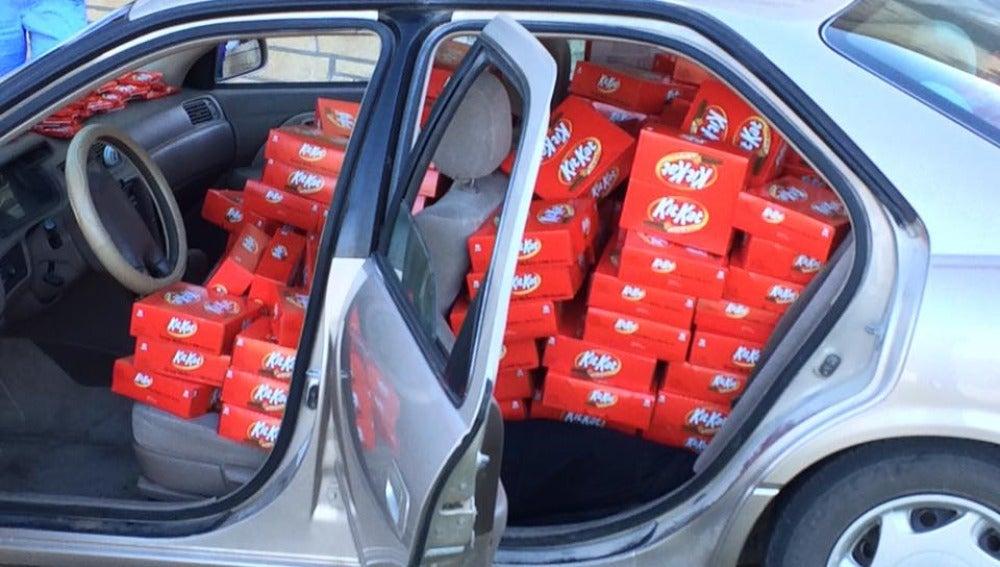 Las chocolatinas que Kit Kat regaló a Hunter Jobbins