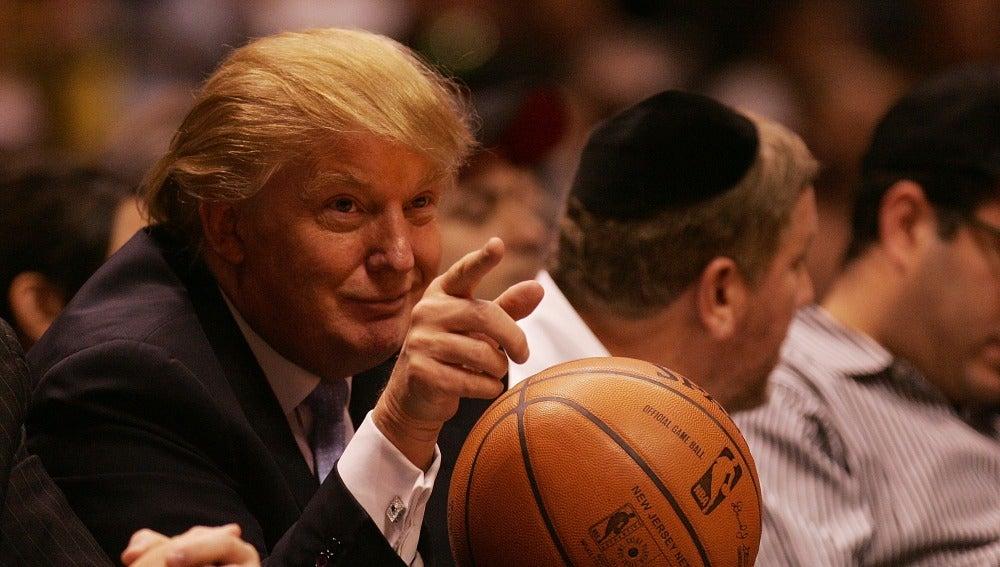 Donald Trump, en un partido de la NBA