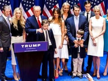 La familia Trump.