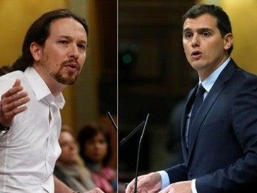 Pablo Iglesias y Albert Rivera