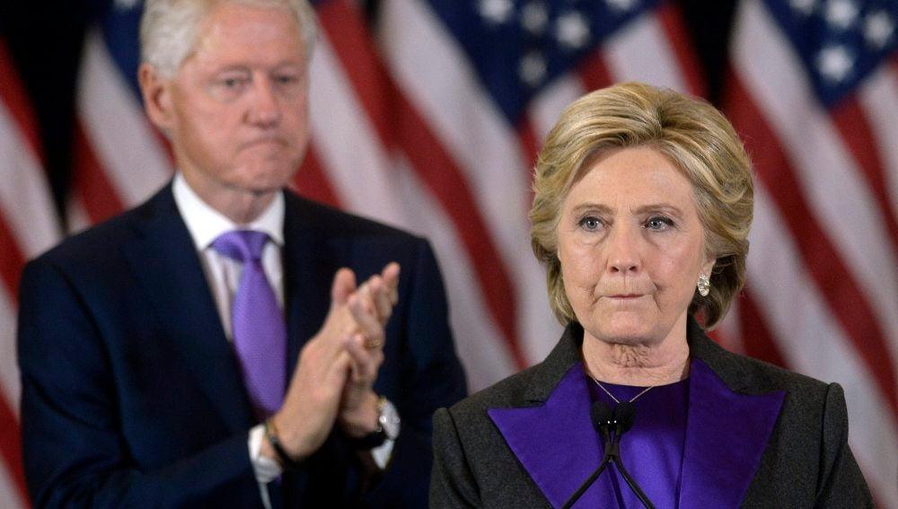 Hillary Clinton, tras la derrota electoral