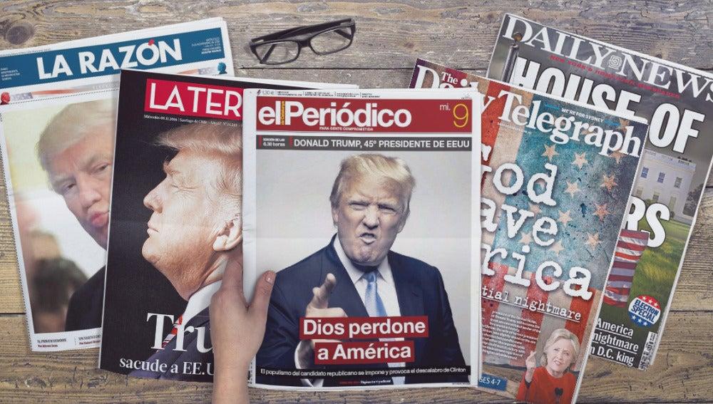 Portadas de los periódicos