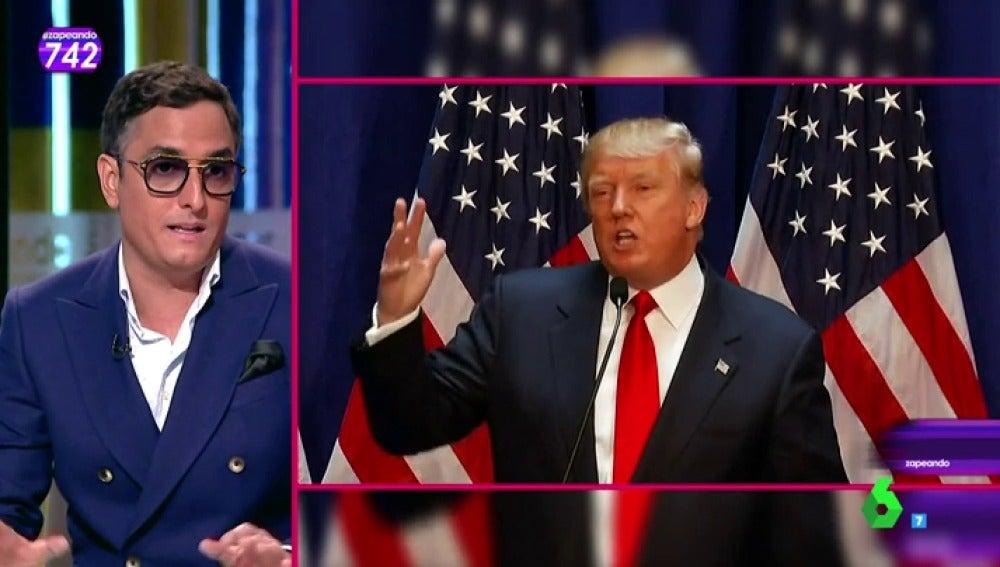 """Frame 184.616279 de: Josie analiza a Donald Trump: """"Es muy fuerte, pasamos del más guapo al más feo. Una persona blanca que se pinta de naranja"""""""