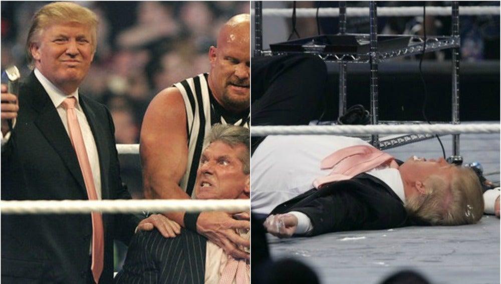 La célebre aparición de Trump en la WWE