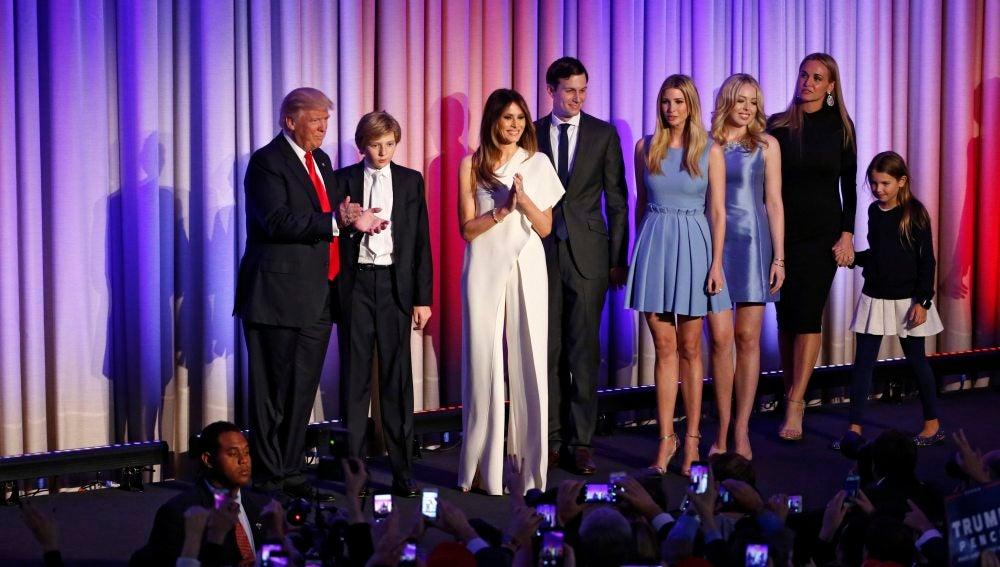 La familia Trump al completo
