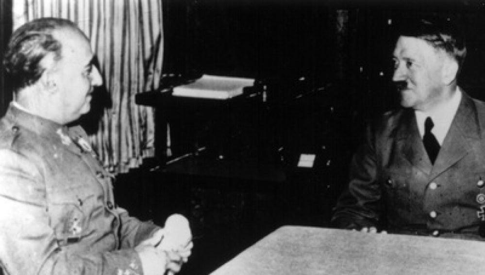Franco junto a Hitler en la reunión de Hendaya