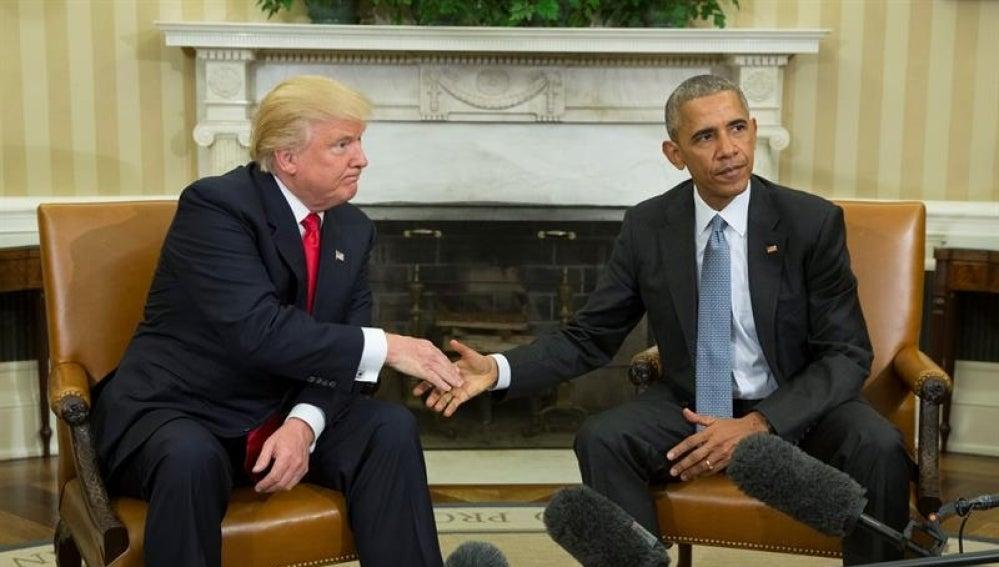 Trump y Obama en la Casa Blanca