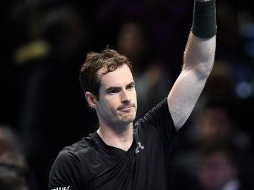 Andy Murray celebra su victoria ante el japonés Kei Nishikori