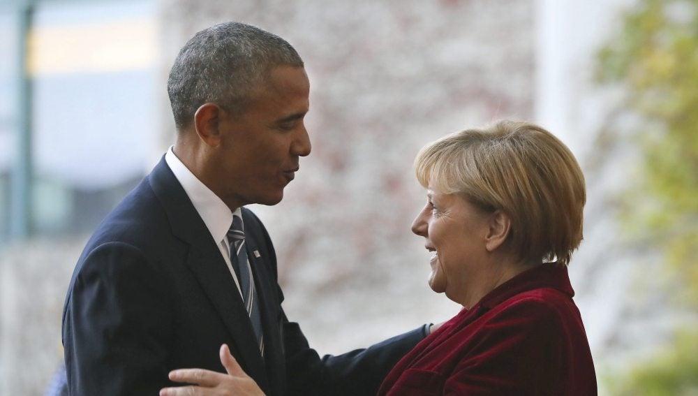 Obama y Merkel, reunidos en Alemania