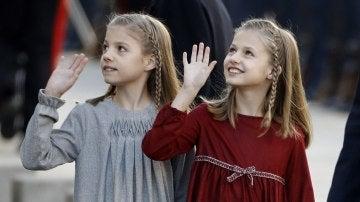 La princesa de Asturias Leonor y la Infanta Sofía