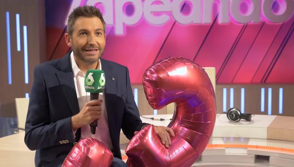 Frank Blanco celebra los tres años de Zapeando