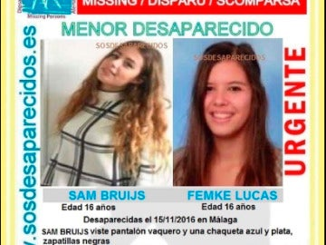 Las menores desaparecidas en Málaga