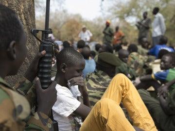 Niños soldados (Archivo)