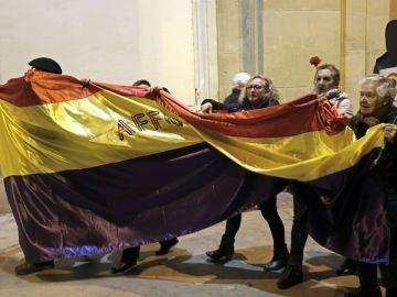 Algunos de los asistentes a la manifestacioón en Pamplona