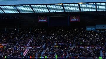 El 'Stadium of light' sin luz durante el Sunderland-Hull City