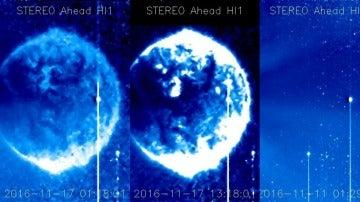 Imagen del OVNI capturado por el satélite de la NASA
