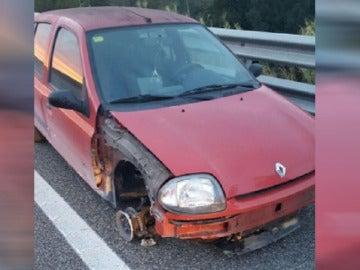 El vehículo después de su detención