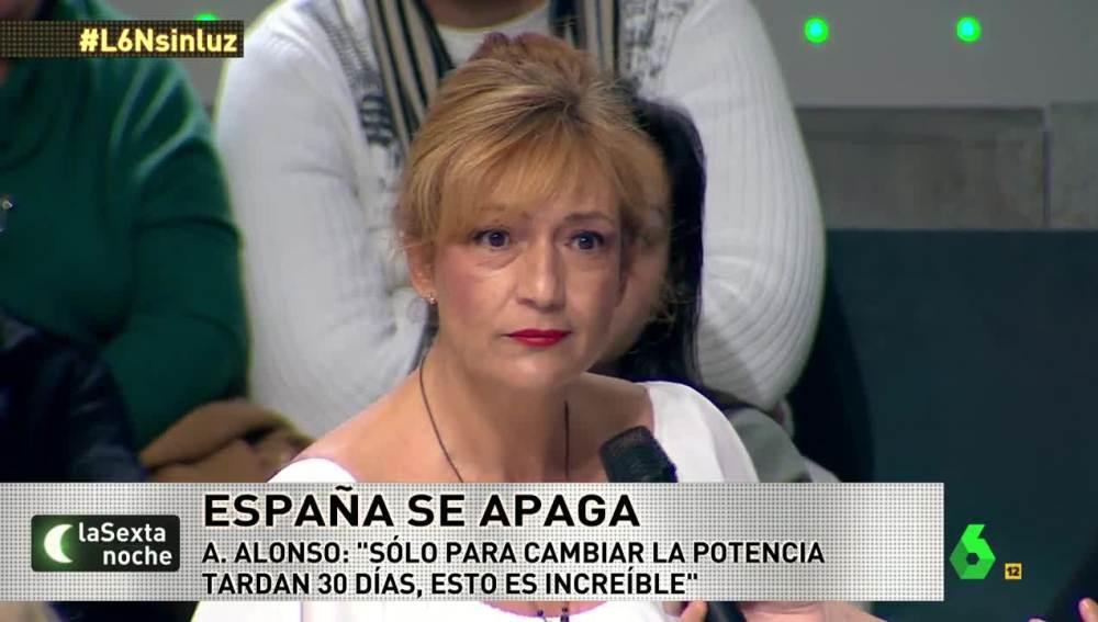 Ana Alonso, afectada por la pobreza energética