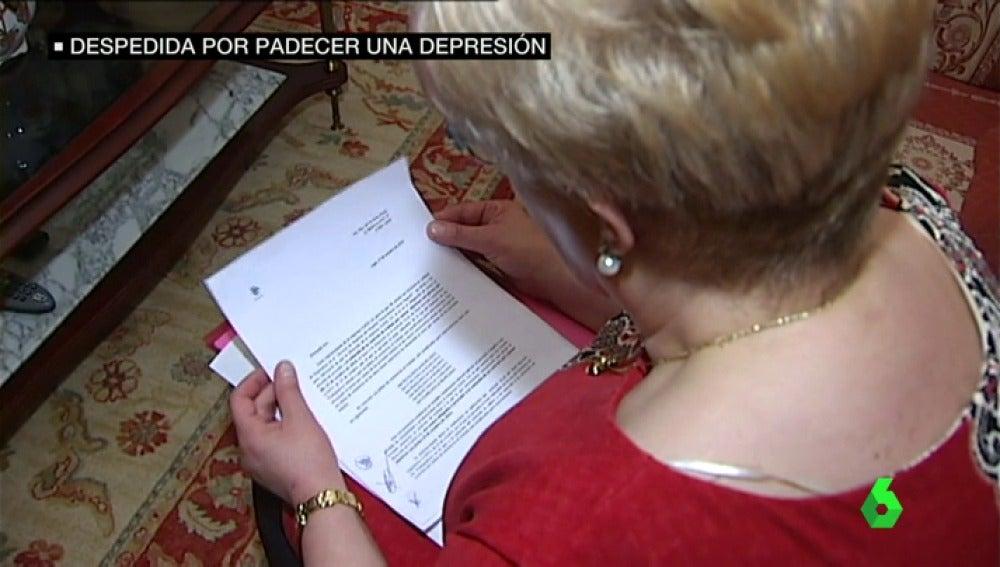 """Frame 42.649921 de: La empresa de limpieza Clefe despidió a Marifé por sufrir una depresión: """"Mi único delito es estar enferma"""""""