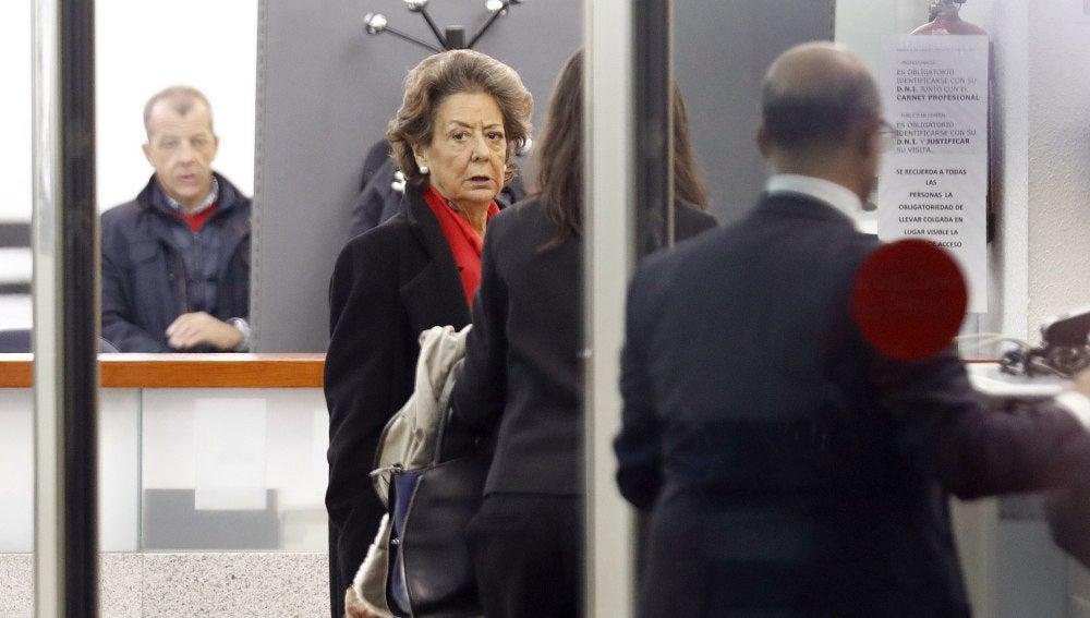 Rita Barberá a su llegada al Tribunal Supremo