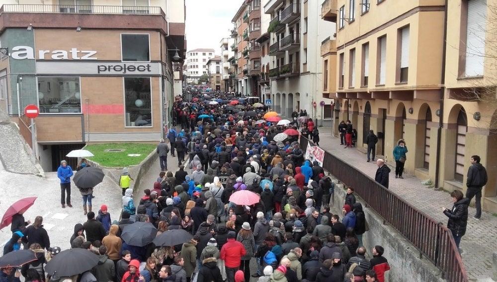 Manifestación en Alsasua en defensa de los detenidos