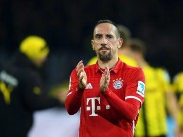Ribéry en un partido con el Bayern