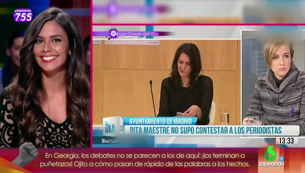 Cristina Pedroche comenta un 'momentazo' de Rita Maestre