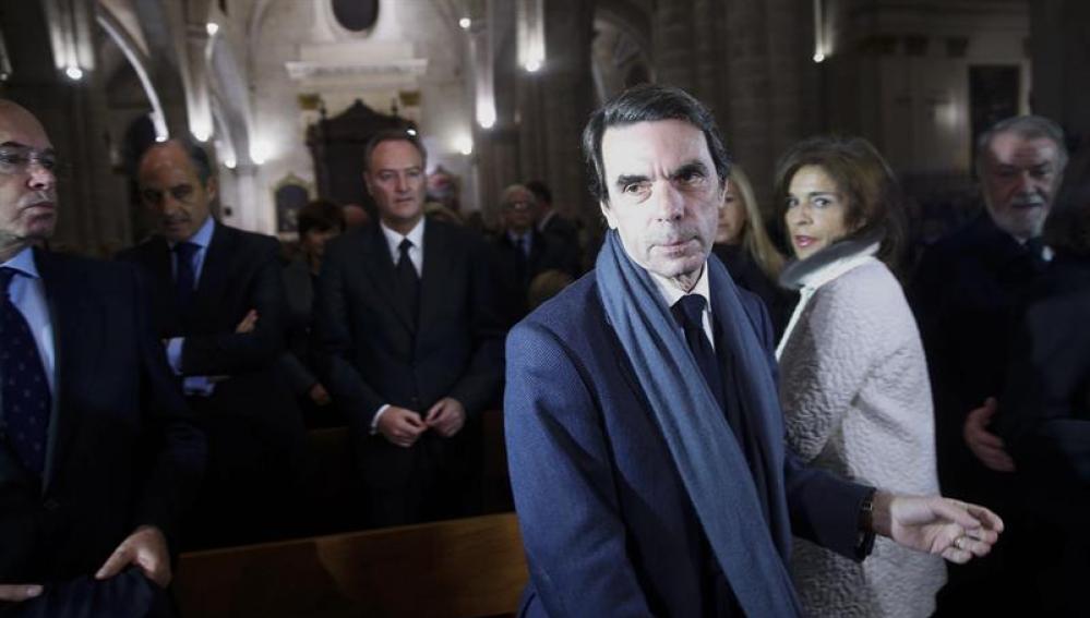 José María Aznar en el funeral en memoria de Rita Barberá