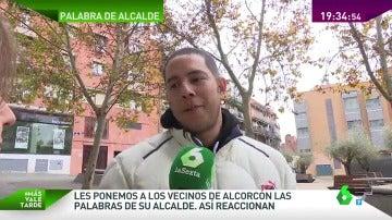 """Frame 97.016569 de: Los vecinos de Alcorcón reaccionan a las palabras de su alcalde: """""""