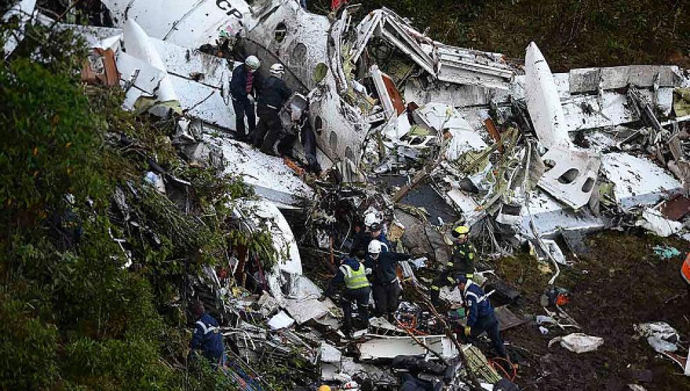 Así ha quedado el avión en el que viajaba el Chapecoense